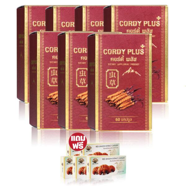 CordyPlus1ถั่งเช่าทิเบต 7 แถมเห็ดหลินจือแดงสกัด 3 6090