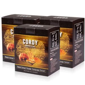 กาแฟเพื่อสุขภาพ cordy coffee plus 3 กล่อง1260